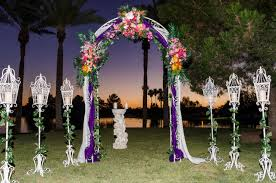outdoor and patio pool backyard wedding decorations combined with