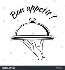 Bon Appetit Kitchen Collection Bon Appetit Delicious Dish Element Restaurant Stock Vector