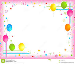 colorful balloons border party frame royalty free stock images
