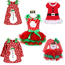 online shop little baby toddler dress fancy santa xmas