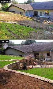 Landscaping Ideas For Sloped Backyard Leveling Backyard Neriumgb