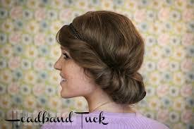 headband roll the freckled fox hair tutorial the easy headband tuck