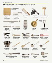 verbe de cuisine les ustensiles de cuisine vocabulary