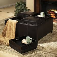 Ottoman Storage Tray by Dayton 4 Tray Top Bonded Leather Storage Ottoman