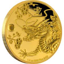 feng shui gold coin dragon new zealand mint
