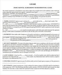 property lease agreement template lease agreement template house