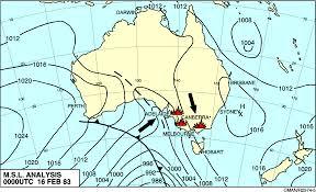 Wind Direction Map Predicting Bushfires In Australia