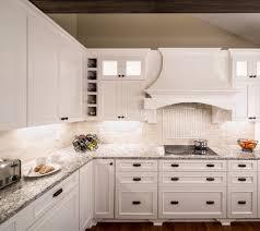 full quartz backsplash kitchen traditional with white trim front sinks