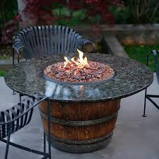 Fire Pit Glass by The Reserve Wine Barrel Fire Pit Table Fireglass Fire Pits