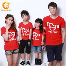 quality family matching cotton t shirt