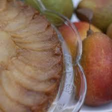 chef becky u0027s pear upside down cake recipe simple pear upside down