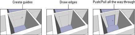 How To Create Floor Plan In Sketchup How To Insert Doors And Windows In Google Sketchup 8 Dummies