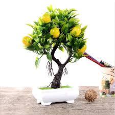 artificial fruit orange apple lemon tree bonsai for wedding