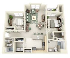 Two Bedroom Houses Thoughtskoto 50 3d Floor Plans Lay Out Designs For 2 Bedroom