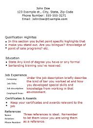 bartending resume template bartender waitress resumes pertamini co
