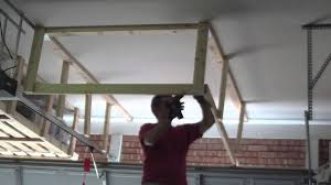 How To Build Garage Storage Shelving by Garage Overhead Storage Timelapse Youtube