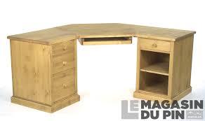 bureau d angle en bois massif bureau d angle en pin massif chamonix le magasin du pin