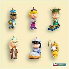 2006 peanuts nativity set 6 hallmark ornament at ornament mall