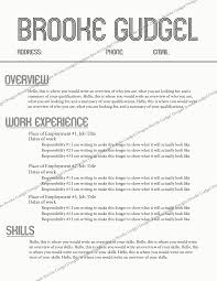 What Resumes Look Like Gmail Resume Template Resume For Your Job Application