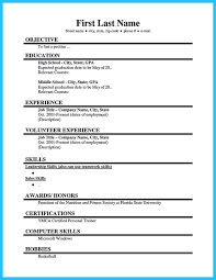 Sample First Resume by First Resume 18 Sample First Resume Employment Resume Template
