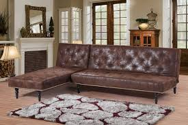 Leather Suede Sofa New Antique Style Brown Faux Leather Suede L Shaped