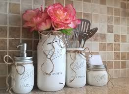 mason jar kitchen set housewarming gift mason jar decor mason