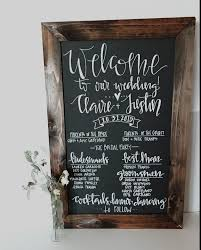 chalkboard wedding program template chalkboard wedding program sign rustic wedding program sign