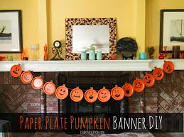 paper plate pumpkin easy banner diy club chica circle