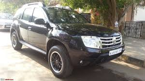 renault duster black renault duster wheel u0026 tyre upgrade page 4 team bhp