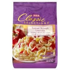h e b classic selections shrimp sci linguini skillet meal for
