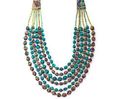 handcrafted home decor indian bead necklace cyan handcrafted home decor by skilled artisans