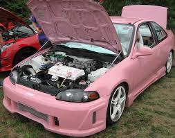 pink car interior sudbury car truck bike show onward canuck