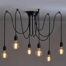 ikea luminaires cuisine 6 heads vintage industrial edison ceiling l chandelier pendant