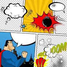retro comic book speech bubbles font logo