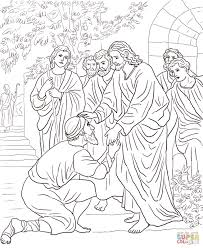 jesus heals a man by the pool coloring page kids coloring