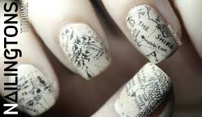Lotr Map Easy Nail Art Middle Earth Hobbit Lord Of The Rings Map