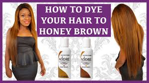 honey weave how to dye your hair wig weave honey brown using adore ombre