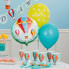 Balloon Decoration For Baby Shower Clouds And Balloons Decorating Idea Up Up And Away Baby Shower