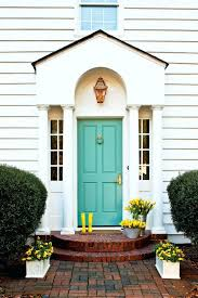 exterior design concept craftsman front door turquoise paint ideas