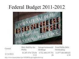 http www current federal budget current debt held by the public ppt download