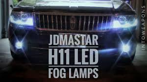 Fog Light Led Bulbs by Led Fog Lights Review Jdm Astar 4400 H11 6500k Led Bulbs Youtube