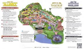 Universal Park Orlando Map by Disney U0027s Hollywood Studios Guidemaps