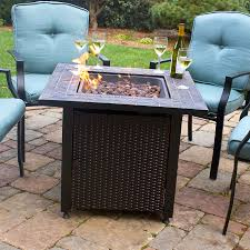 Lowes Outdoor Fireplace shop endless summer 30 in w 50 000 btu oil rubbed bronze steel