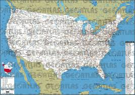 Map Of Usa States by Geoatlas United States Canada United States Of America Map