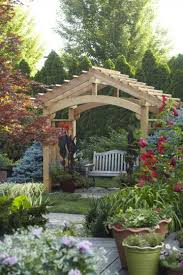 Pictures Of Pergolas In Gardens by Arbor Ideas Wooden Arbor Over A Bench Trellis Pinterest