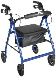 senior walkers with seat rollator walker with fold up and removable back support and padded