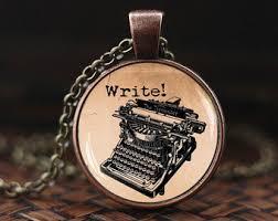 Typewriter Meme - typewriter necklace vintage typewriter antique silver