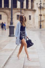 light blue cardigan sweater fuzzy furry fashion trend autumn 2014 kenza zouiten balenciaga
