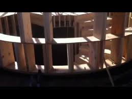 circular wood wall wall and stairs build