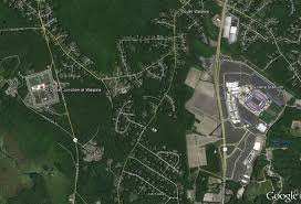 Gillette Stadium Map Aaron Hernandez U0027s New Prison On The Left And Gillette Stadium On